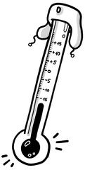 Thermometer in Ushanka - Temperatur, negativ, positiv, ganze Zahlen, Mathematik, Thermometer, Ushanka, Skala, kalt, warm, messen, Zahlenstrahl, ablesen