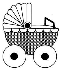 Puppenwagen - Puppenwagen, Anlaut P, Wörter mit Pp, Spielsachen, Kinderspielzeug, Mobilspielzeug