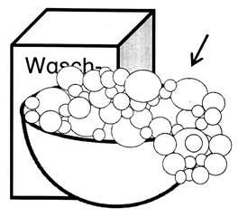 Schaum - Schaum, Anlaut Sch, Wörter mit au, schäumen, Seife, Waschmittel, Dispersion, Bläschen, gasförmig, Tenside, Chemie, Lauge
