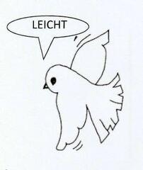 Symbol für leichte Aufgaben - leicht, Symbol, Vogel, fliegen, Differenzierung