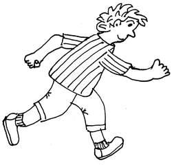 laufen - laufen, rennen, spurten, Sport, Freizeit, Fortbewegung, Wörter mit au
