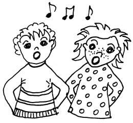 singen - singen, Musik, Lieder, Kinder, Hobby, Stimme, Noten, Ton, Töne
