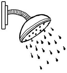 Dusche - Duschkopf, Anlaut D, Wasser, Körperhygiene, Badezimmer, Dusche, Wörter mit sch