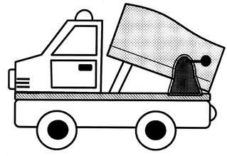 Kipplaster - Kipplaster, Kipper, Lastwagen, Baufahrzeuge, Spielsachen, Sandspielsachen, Anlaut K, Anlaut L, Nutzfahrzeug, Baustellenfahrzeug