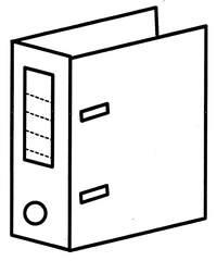 Ordner - Ordner, Anlaut O, Ordnungssystem, Schulsachen, abheften