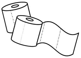 Klopapier - Klopapier, Toilettenpapier, Zellstoff, Badzubehör, Toilette, Hygiene, Anlaut K, Anlaut T