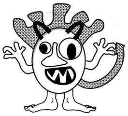 Monster - Monster, Anlaut M, Phantasiewesen, Märchen, Ungeheuer