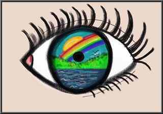 Surrealismus - Klasse 7 Kunstunterricht, Filzstifte, Pupille, Kunst, Auge, Wimpern