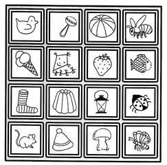 Zuordnungsspiel - Zuordnungsspiel, Wörter mit y, Kinderspiel, Gedächtnisspiel, Gesellschaftsspiel