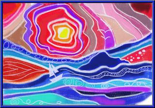 Malen wie Ted Harrison - Deckweiß, bunt, Warm/Kalt Kontrast, Landschaft, Malen