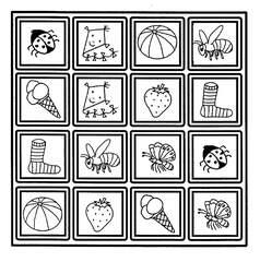 Zuordungsspiel mit Bildpaaren - Anlaut M, Brettspiel, Spiele, Gedächtnisspiel, Zuordnungsspiel, Kinderspiel, Gesellschaftsspiel