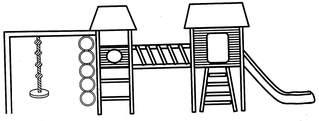 Klettergerüst 1 - Klettergerüst, Turngerät, Spielplatz, Spielgeräte, klettern, rutschen, schwingen, turnen