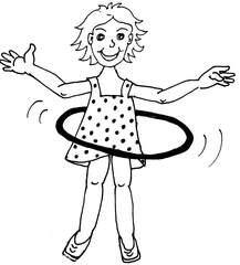 Hula Hoop - Hula Hoop, Freizeitbeschäftigung, Reifen, kreisen, Bewegung
