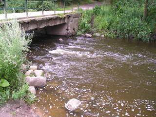Fließgewässer - Ökologie, Fliessgewässer, Brücke, Ufer, Schwartau