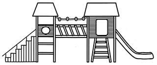 Klettergerüst 2 - Klettergerüst, Turngerät, Spielplatz, Spielgeräte, klettern, rutschen, schwingen, turnen