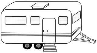 Wohnwagen - Wohnwagen, Ferien, Urlaub, Campingplatz, campen, Campinganhänger, wohnen