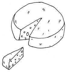 Käse - Käse, Anlaut K, Laib, Milchprodukt, Nahrungsmittel, Brotbelag