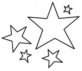 Sterne - Sterne, Anlaut St, Himmelskörper, Nachthimmel, leuchten, Weihnachten, Umriss, Kontur, fünf