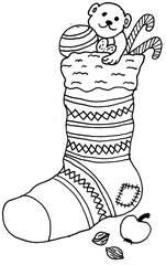 Nikolausstrumpf - Nikolausstrumpf, Strumpf, Nikolaus, Jahreszeiten Feste, Advent, Brauchtum
