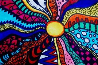 Grafik - Muster, Farben, Wirkung, Filzstifte