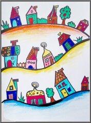 Häuser zeichnen - Häuser, Filzstifte, bunt, Wirkung von Farbe