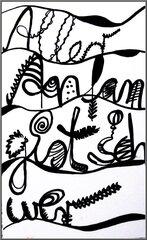 Schrift im Kunstunterricht - Buchstaben, Kunst, Schrift, Klasse 7