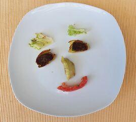 Essgesicht - Gesicht, Gemüse, Tellergesicht, Tellergericht