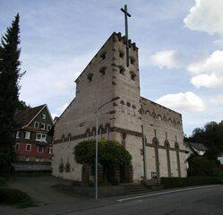 Heilig-Kreuz-Kirche Neuenbürg - Kirche, Kirchengebäude, Kulturdenkmal, Pfarrkirche, Katholisch, Expressionismus