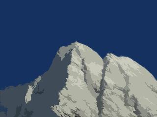 Großglockner - Schnee, Gipfel, Malerei, digital, Großglockner, Österreich, Hohe Tauern