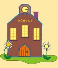 Haus (Schule) - Haus, Schule, Illustration, Schulhaus, Gebäude, Schulgebäude, Anlaut Sch