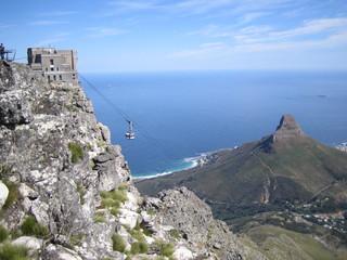 Kapstadt 3 - Cableway, Gondel, Seilbahn, Tafelberg, Kapstadt, Tal, Berg, Bergstation, Südafrika