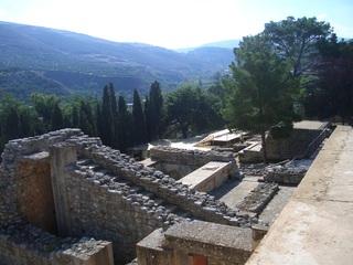 Palast von Knossos (4) - Knossos, Kreta, Griechenland, minoische Kultur, Wohnhaus, Treppe, Lebensweise, dicke Mauern, Ruine, Struktur