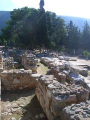 Palast von Knossos (1) - Knossos, Kreta, Griechenland, Minoische Kultur, Labyrinth, Minotaurus, dicke Mauern, Ruinen, Struktur
