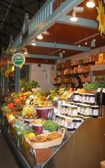 Gemüsestand - Markthalle, Gemüse, Gemüsestand, essen, Ernährung, Obst, Arbeit, arbeiten