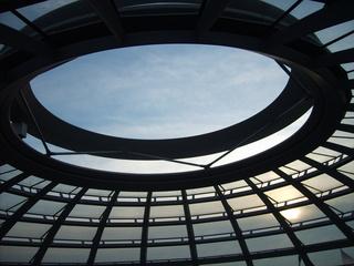Kuppel Reichstag 2 - Kuppel, Berlin, Reichstag, Regierungssitz, Himmel, Perspektive