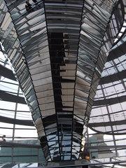 Kuppel Reichstag 1 - Berlin, Kuppel, Reichstag, Spiegel, Struktur