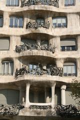 Casa Milá - Balkonfront - Gaudí, Barcelona, Modernismo, Pedrera, Gebäude, Modernismus, Modernisme Català, Katalonien, Jugendstil, Art nouveau, Architektur, florales Ornament
