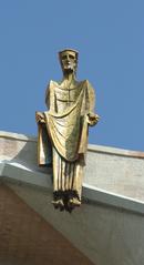Christusfigur - Sagrada Familia - moderne Skulptur, Gaudí, Eixample, Christus, Christusfigur, Schreibanlass, Meditation