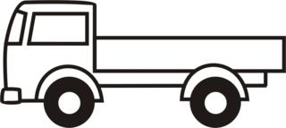 Lastwagen - Lastwagen, Auto, LKW, Anlaut L, Ladefläche, Ladung, Transport, transportieren, Laster