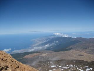Gipfelblick vom Teide - Kanaren, Teneriffa, Teide, Spanien, Aussicht, Vulkan