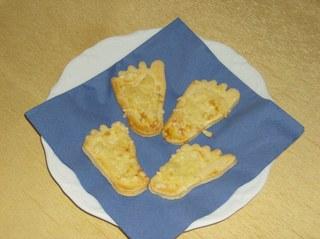 Käsefüße - Käsefüße, Gebäck, salzig, Mürbteig, Käse, backen