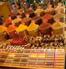 Gewürzbasar in Istanbul - Handel, Markt, Basar, Gewürze, Verkauf