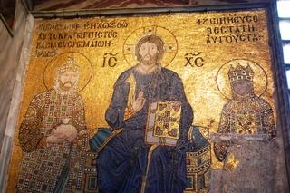Hagia Sophia - Christusmosaik - Türkei, Istanbul, Osmanisches Reich, byzantinische Baukunst, Islam, Religion, Weltreligion, Kirche, Geschichte, Geografie