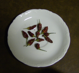 Chilischoten getrocknet - Chili, Gewürz, Schote, Chilischote, Chilischoten, getrocknet, konserviert