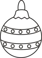 Christbaumkugel - Christbaumkugel, Kugel, Weihnachten, Weihnachtsschmuck, Baumschmuck, Christbaumschmuck, Anlaut K, Illustration