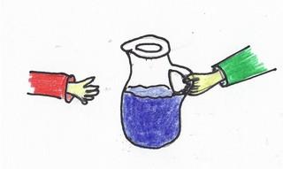 Redewendungen als Bilder #6 - Redewendung, Krug, Wasser, reichen, ebenbürtig, gleich