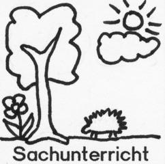Piktogramm Sachunterricht - Piktogramm_Stundenplan, Sachunterricht, Baum, Blume, Wolke, Igel, Sonne