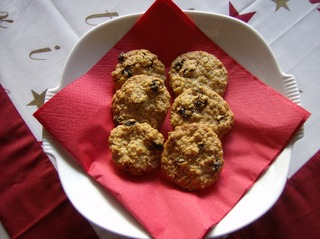 Rosinenbrötchen - Gebäck, Weihnachtsgebäck, Plätzchen, Haferflocken, Rosinen, knusprig
