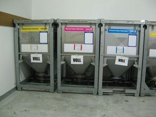 Druckerfarbe - Farbe, Drucken, Zeitung, Grundfarben, Mischen, Cyan, Magenta, Gelb, Behälter, Container, Physik, subtraktive Farbmischung