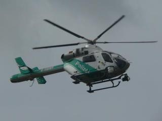 Polizeihubschrauber - Polizei, Polizeihubschrauber, Flugzeug, Helikopter, Einsatz, Rotor, Rotorblatt, fliegen